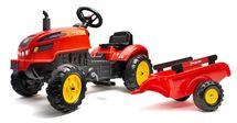 FALK - Šliapací traktor 2046AB XTractor červený s vlečkou