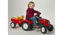 FALK - Šliapací traktor 2051C Ranch Trac červený s vlečkou a lopatkou s hrabličkami