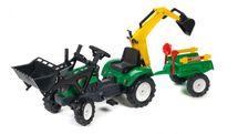 FALK - Šliapací traktor 2052CN Ranch Trac zelený s nakladačom, vlečkou, rýpadlom a lopatkou s hrabličkami