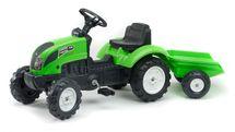 FALK - Šliapací traktor 2057J Garden master zelený s vlečkou