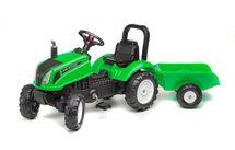 FALK - Šliapací traktor 3083AD Land Master zelený s vlečkou