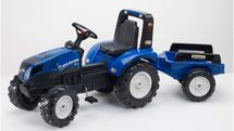 FALK - Šliapací traktor New Holland T8 s vlečkou 3090B