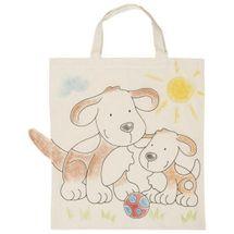 GOKI - Detská Eko bavlnená taška k vyfarbenie, 38x42cm - Psík