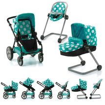 HAUCK - Set pre bábiky I´coo - kočík, autosedačka, stolička na kŕmenie - aqua