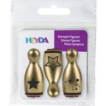 HEYDA - Vianočné pečiatky figúrka - zlatá