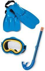 INTEX - detská potápacia súprava s plutvami stredná