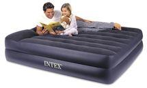 INTEX - nafukovacia posteľ 64124 Raised Pillow QUEEN s integrovanou elektrickou pumpou
