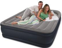 INTEX - nafukovacia posteľ 64136 Deluxe Raised Pillow QUEEN s integrovanou elektrickou pumpou