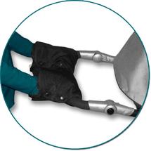 IVEMA BABY - Rukávnik na oddelené rukoväte (2 kusy) - čierny