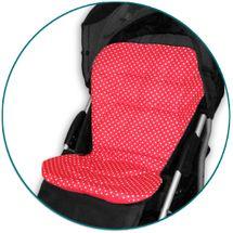 IVEMA BABY - Vložka do kočíka Maxi Color - červená s bodkami / červená