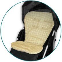 IVEMA BABY - Vložka do kočíka Maxi Color - béžová s bodkami / béžová