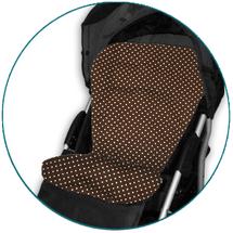 IVEMA BABY - Vložka do kočíka Maxi Color - hnedá s bodkami / hnedá
