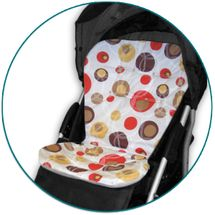 IVEMA BABY - Vložka do kočíka Maxi Color - hnedé bubliny / béžová
