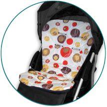 IVEMA BABY - Vložka do kočíka Maxi Color - hnedé bubliny / hnedá
