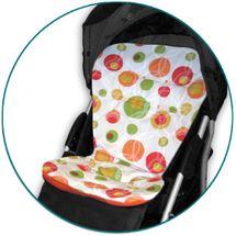 IVEMA BABY - Vložka do kočíka Maxi Color - oranžové bubliny / oranžová