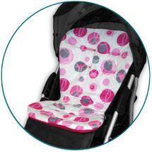 IVEMA BABY - Vložka do kočíka Maxi Color - ružové bubliny / malina