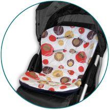 IVEMA BABY - Vložka do kočíka Uni Color - béžové bubliny / hnedá