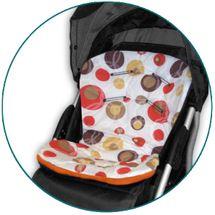 IVEMA BABY - Vložka do kočíka Uni Color - béžové bubliny / oranžová