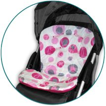 IVEMA BABY - Vložka do kočíka Uni Color - malinové bubliny / malina