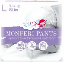 MONPERI - Jednorazové nohavičky 8-14 kg nohavičky - Pants L (balenie 20 kusov)