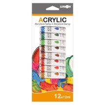 JUNIOR - Farby akrylové 12 ml - sada 12 ks