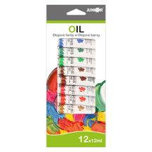 JUNIOR - Farby olejové 12 ml - sada 12 ks