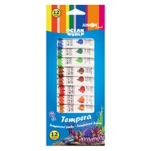 JUNIOR - Farby temperové Ocean World 12 ml - sada 12 ks