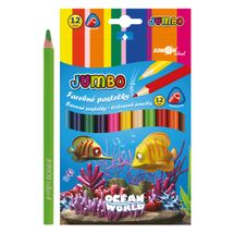 JUNIOR - Pastelky Ocean World trojhrané JUMBO 12 ks