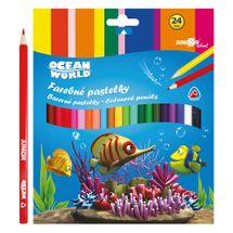 JUNIOR - Pastelky Ocean World trojhranné 24 ks