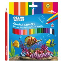 JUNIOR - Pastelky Ocean World trojhranné 24 ks
