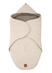 "KAISER - Zavinovacia deka ""Wrappy Knitty"" super soft - Beige"
