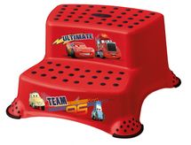 KEEEPER - Stolička - schodíky s protišmykovou funkciou - Cars II - červená