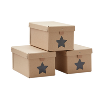 KIDS CONCEPT - Krabice na topánky Natural 3ks
