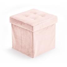 KIDS CONCEPT - Úložný taburet Velvet Light Pink