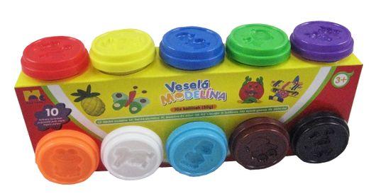 KIDS TOYS - Plastelína 10 x 50 g, rôzne farby