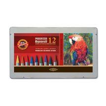KOH-I-NOOR - Pastelky KOH-I-NOOR Progresso - akvarelové, sada 12 ks v plech. boxe
