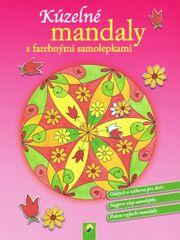Kúzelné mandaly s farebnými samolepkami (ružová)