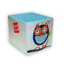 LABEL-LABEL - Box na hračky, modrá sovička