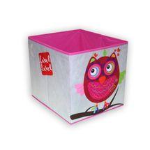 LABEL-LABEL - Box na hračky, ružová sovička