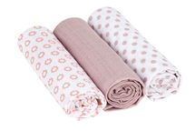 LÄSSIG - Bavlnené plienky SwaddleMe Blanket 85x85 Little Chums Star light pink