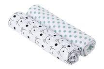 LÄSSIG - Bavlnené plienky SwaddleMe Burp Blanket 120x120 Little Chums dog