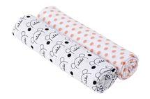 LÄSSIG - Bavlnené plienky SwaddleMe Burp Blanket 120x120 Little Chums mouse