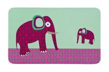 LÄSSIG - Detské prestieranie Breakfast Boards Wildlife, elephant