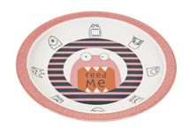 LÄSSIG - detský tanier, Plate with Silicone Little Monsters mad mabel