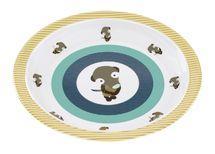 LÄSSIG - Detský tanier Plate with Silicone Wildlife meerkat