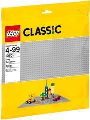 LEGO - Classic 10701 Sivá podložka na stavanie