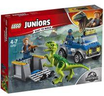 LEGO - Juniors 10757 Raptor a záchranárske vozidlo