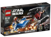 LEGO - Star Wars 75196 Mikrostíhačka A-Wing vs. mikrostíhačka TIE Silencer
