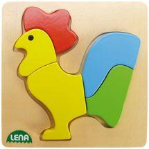 LENA - Drevené puzzle Kohút 32062