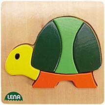 LENA - Drevené puzzle Korytnačka 32063